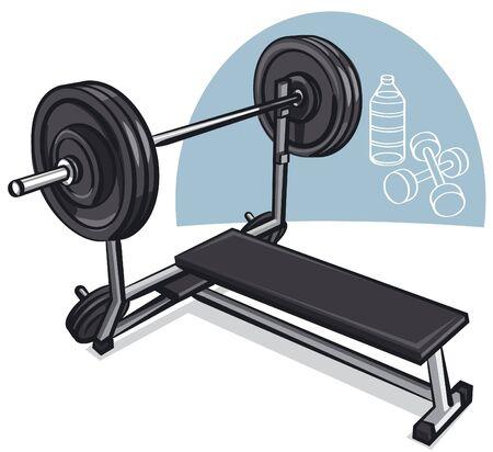 simulator: Weight training simulator  Illustration