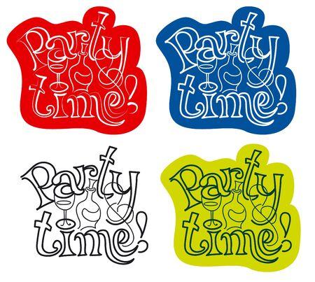 party time: Carte d'invitation de partie de temps