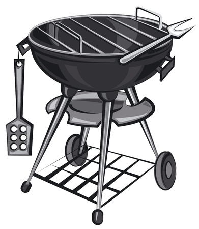 dinner party people: barbecue grill appliance Illustration