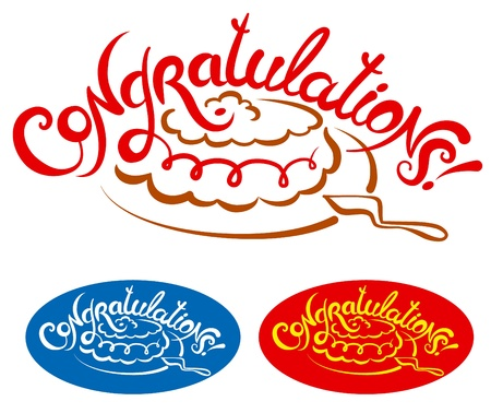 laud: Congratulations Hand Lettering Illustration