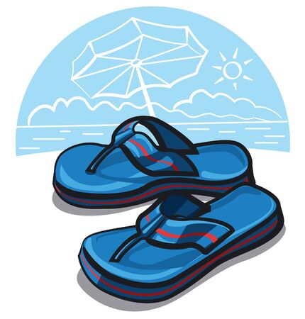flop: flip flop sandals  Illustration