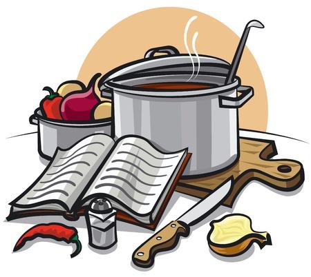 sopa: cocinar Vectores