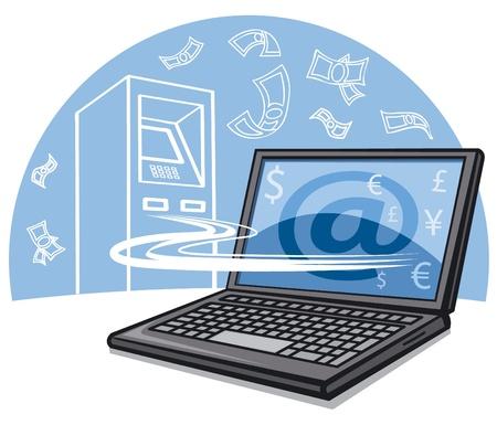 internet banking Stock Vector - 16895788