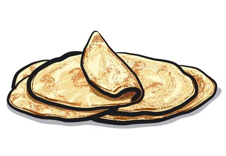 harina: pan de pita Vectores