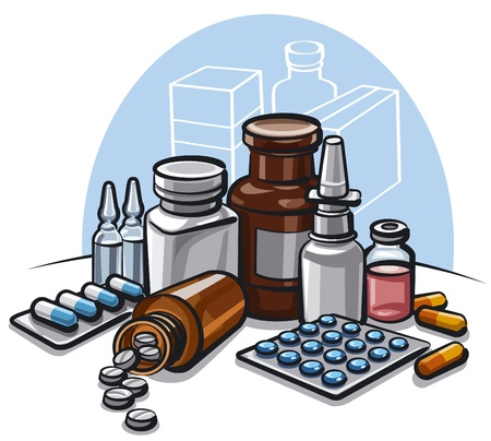 supplements: drugs Illustration