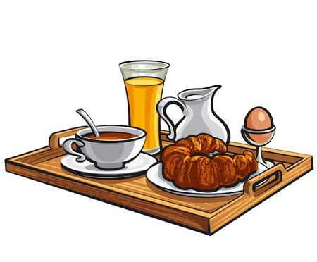 breakfast in a hotel room