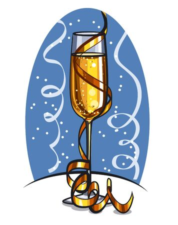 glass of champagne Stock Vector - 16981779