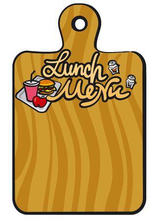lunch menu Vector