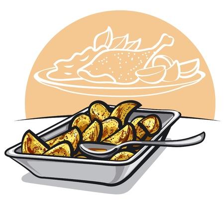 crisp: Roasted potatoes
