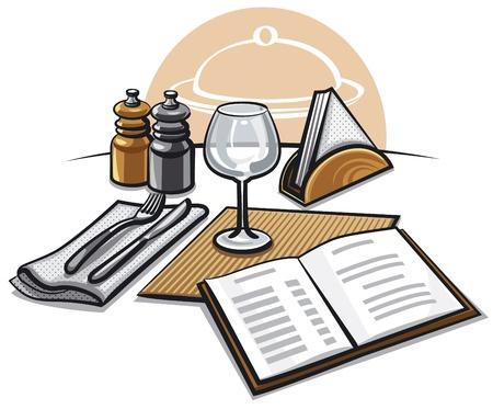 dinner setting: table setting at restaurant
