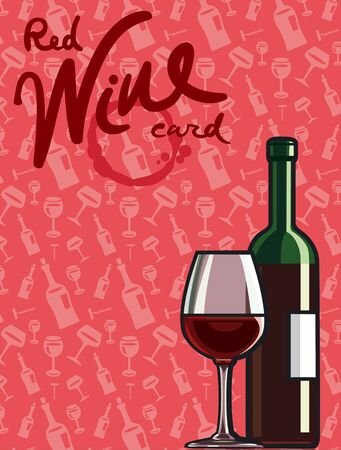 red wine card Vector