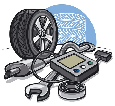 onderhoud auto: Auto service concept