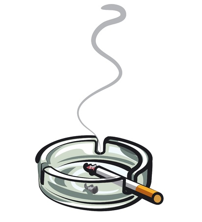 tobacco product: cigarette in ashtray