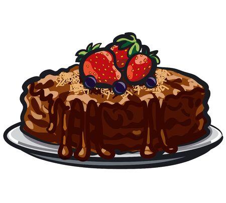 blueberry pie: chocolate tart with berries