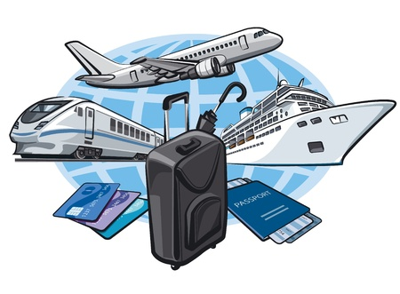 transort for travel concept Stock Vector - 17696516