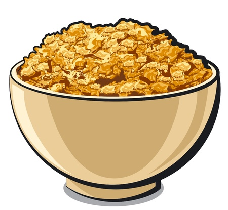 cereal bowl: tasty cornflakes Illustration