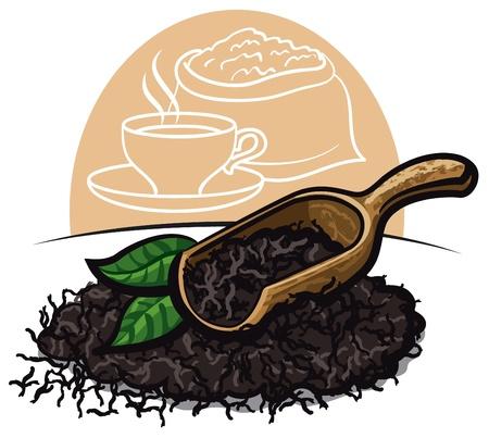 hojas de te: T� negro Hojas secas