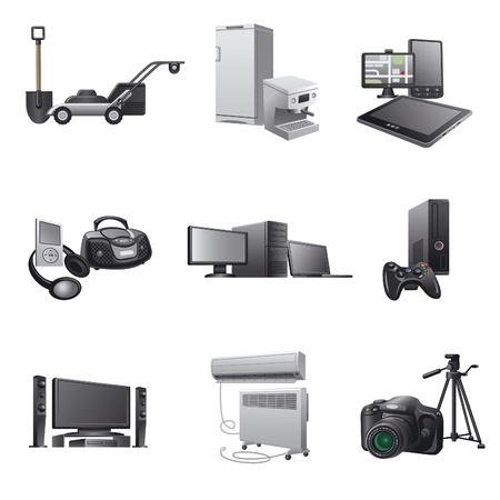 aparatos domésticos icono set2