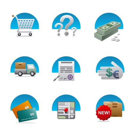 shopping icon set Stock Vector - 18004429