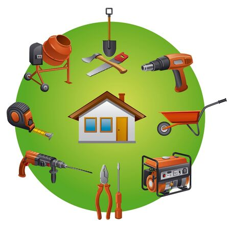 construction tools icon Stock Vector - 18233917