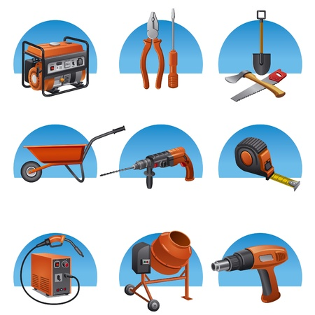 welding: construction tools icon set