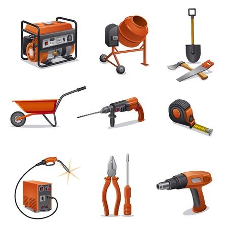 herramientas de construccion: herramientas de iconos de construcción Vectores