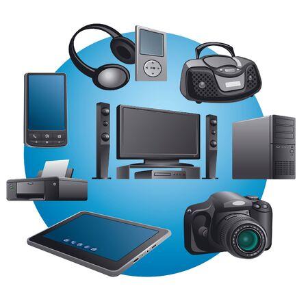 electronics appliances icons Stock Vector - 18233922