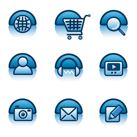 website icon set Stock Vector - 18233919