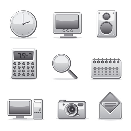 computer applications icon set Vector