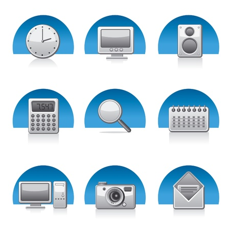 applications icons Stock Vector - 18383812