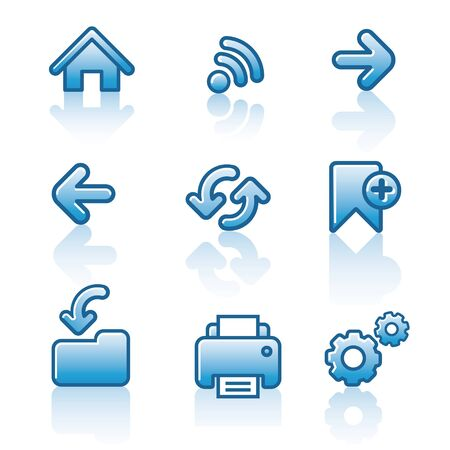 Web navigation icon set Stock Vector - 18564317