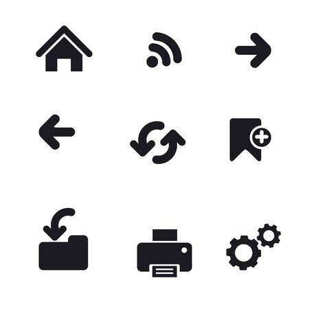 Web navigation basic icon set Stock Vector - 18564313