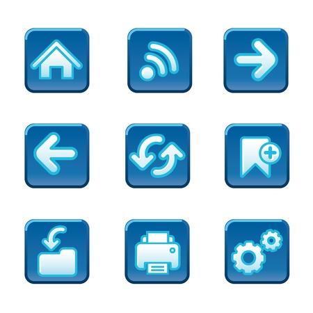 Web navigation buttons set Stock Vector - 18564321