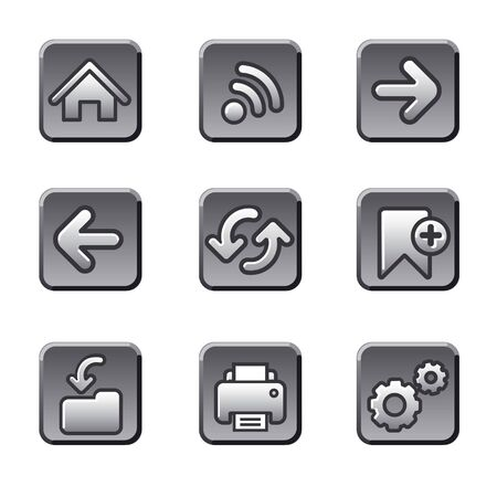 Web navigation buttons set Stock Vector - 18564315