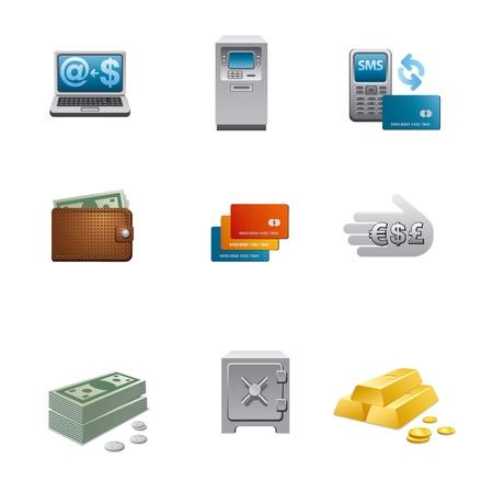 bank transfer: banking and finance icon set Illustration