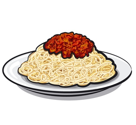 italian pasta: Espaguetis con salsa