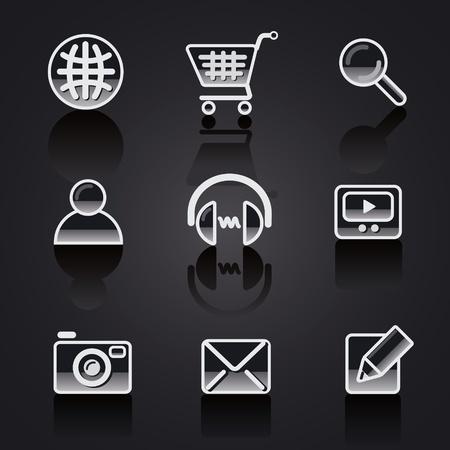 earbud: web site icon set