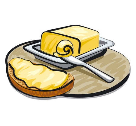 butter with sandwich Vector