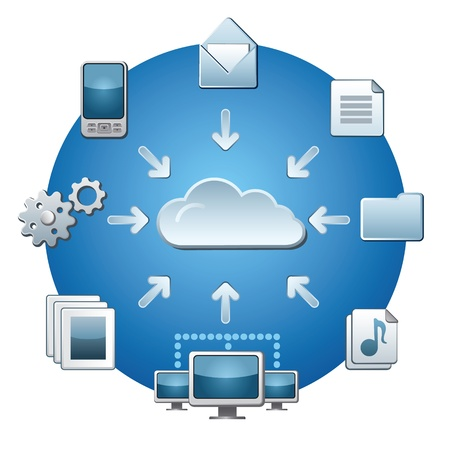 Cloud service for network Vector