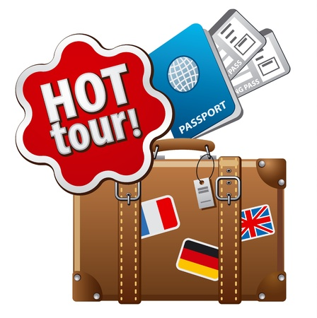 hot tour icon Vector