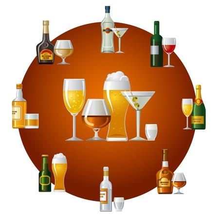 icône de boissons alcoolisées Vecteurs