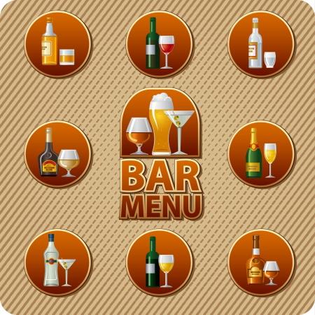 liqueurs: bar menu icon