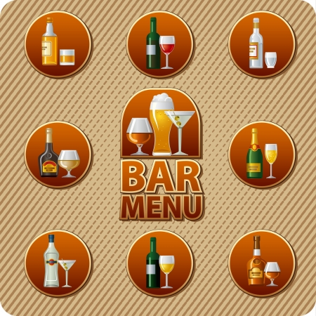 barre de menus Icône Vecteurs
