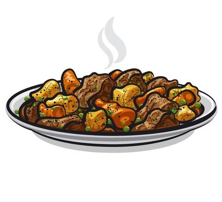 estofado de ternera con verduras picantes