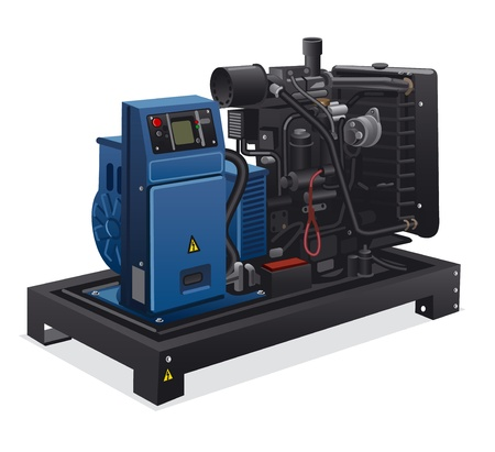 generators: industrial diesel power generator Illustration
