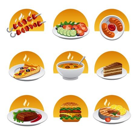 Essen icon set Standard-Bild - 19979212