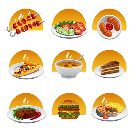 plate of food: voedsel pictogram serie