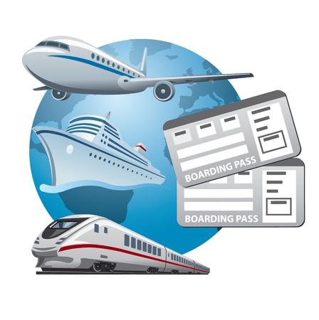 billets icône de voyage Vecteurs