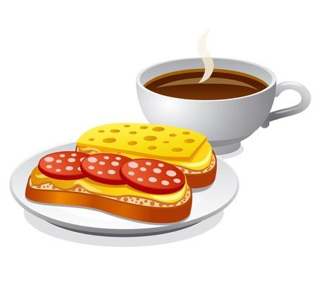 bread and butter: breakfast Illustration