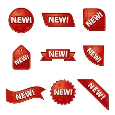 Neues Etikett und Aufkleber-Set Standard-Bild - 20294355